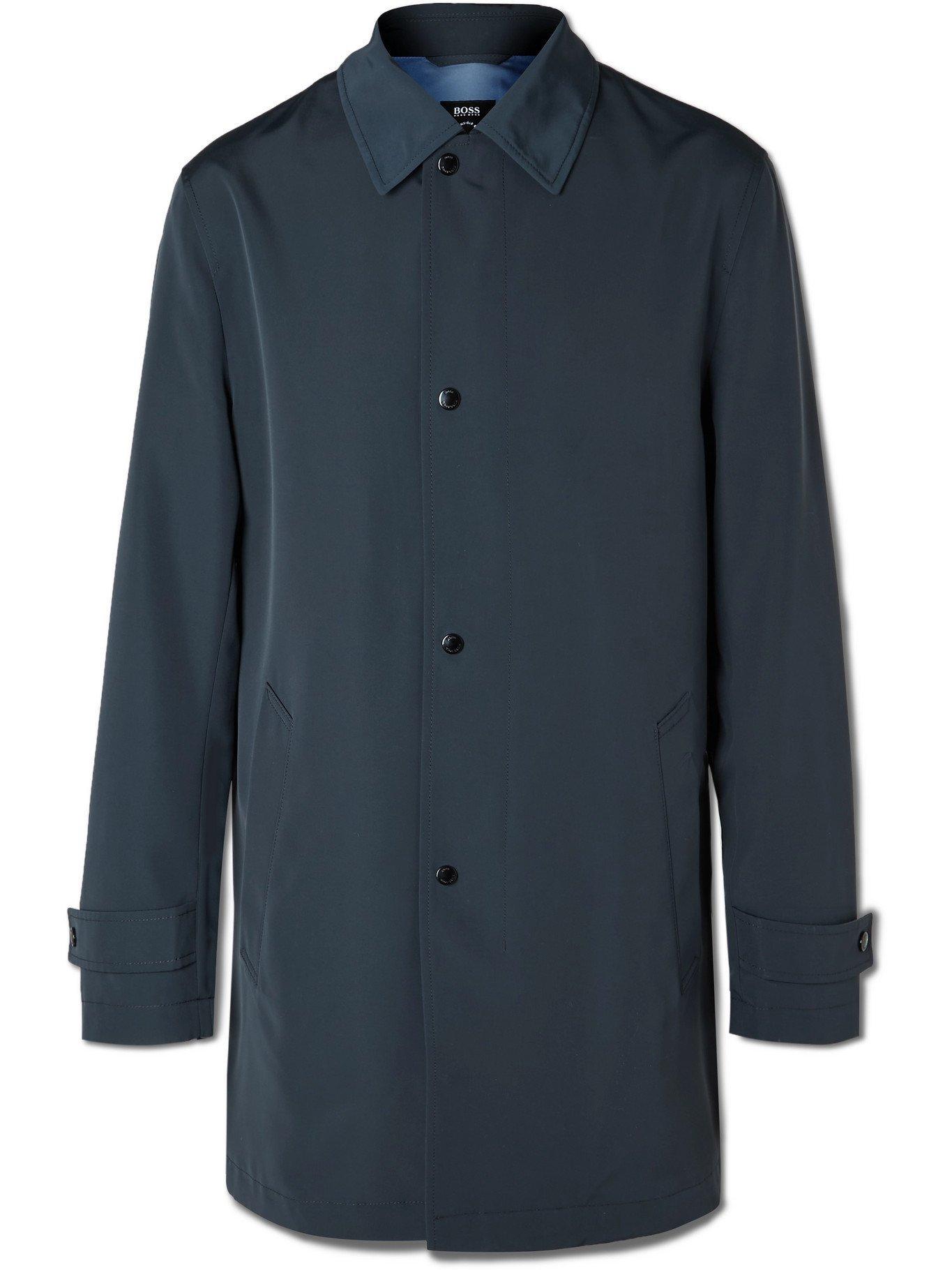 HUGO BOSS - Recycled Shell Coat - Blue - IT 44