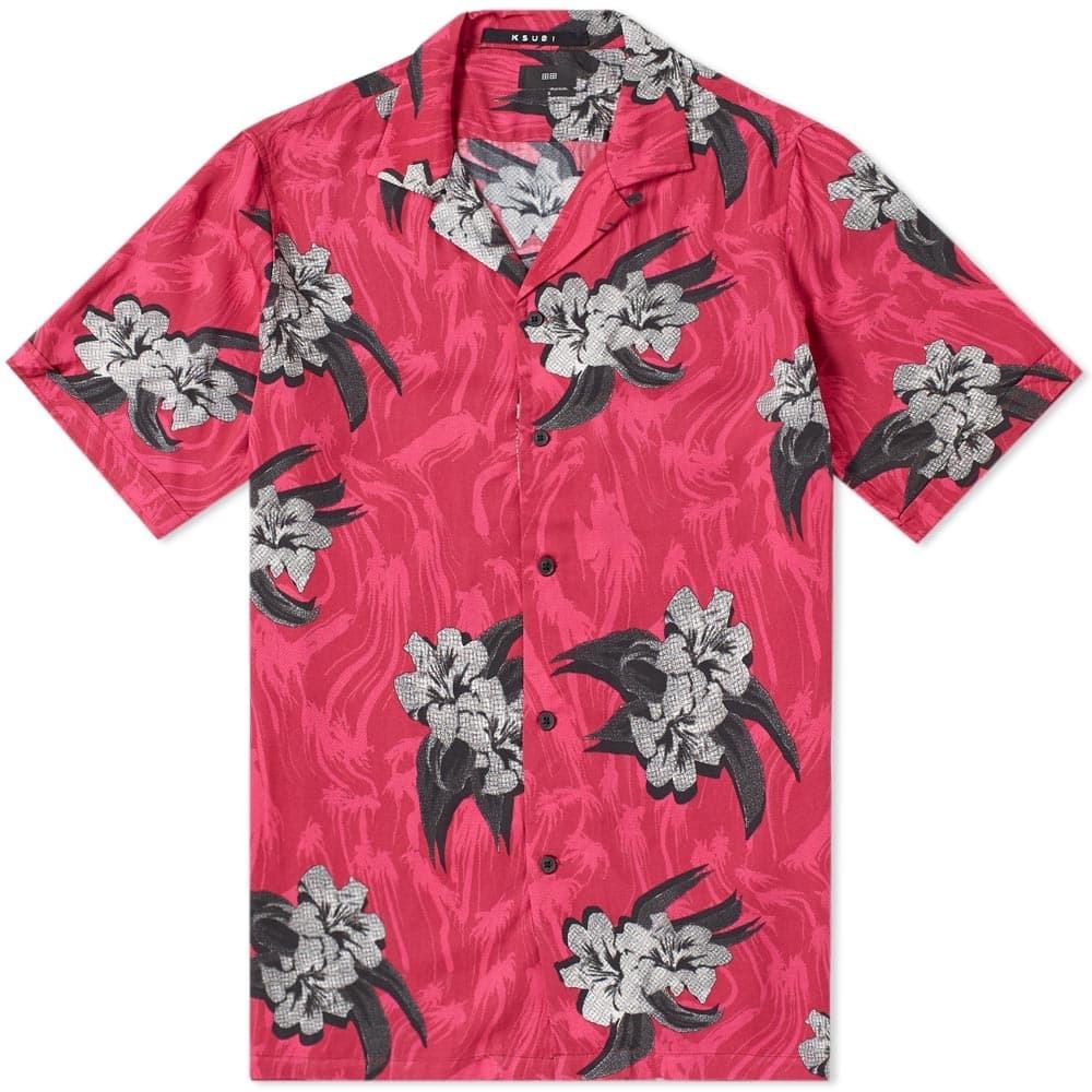 Ksubi Short Sleeve Acid Vacay Vacation Shirt Red