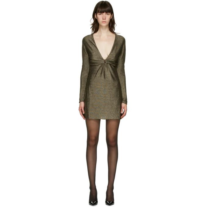 Photo: Saint Laurent Gold Lurex Short Dress