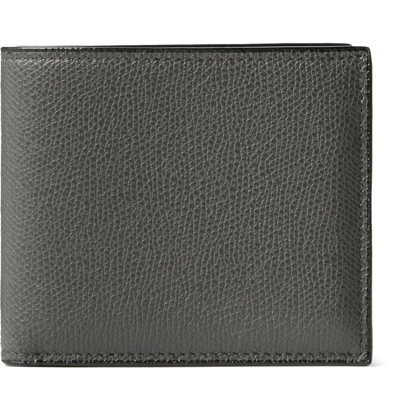 Photo: Valextra - Pebble-Grain Leather Billfold Wallet - Gray