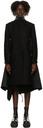 Sacai Black Melton Wool Coat