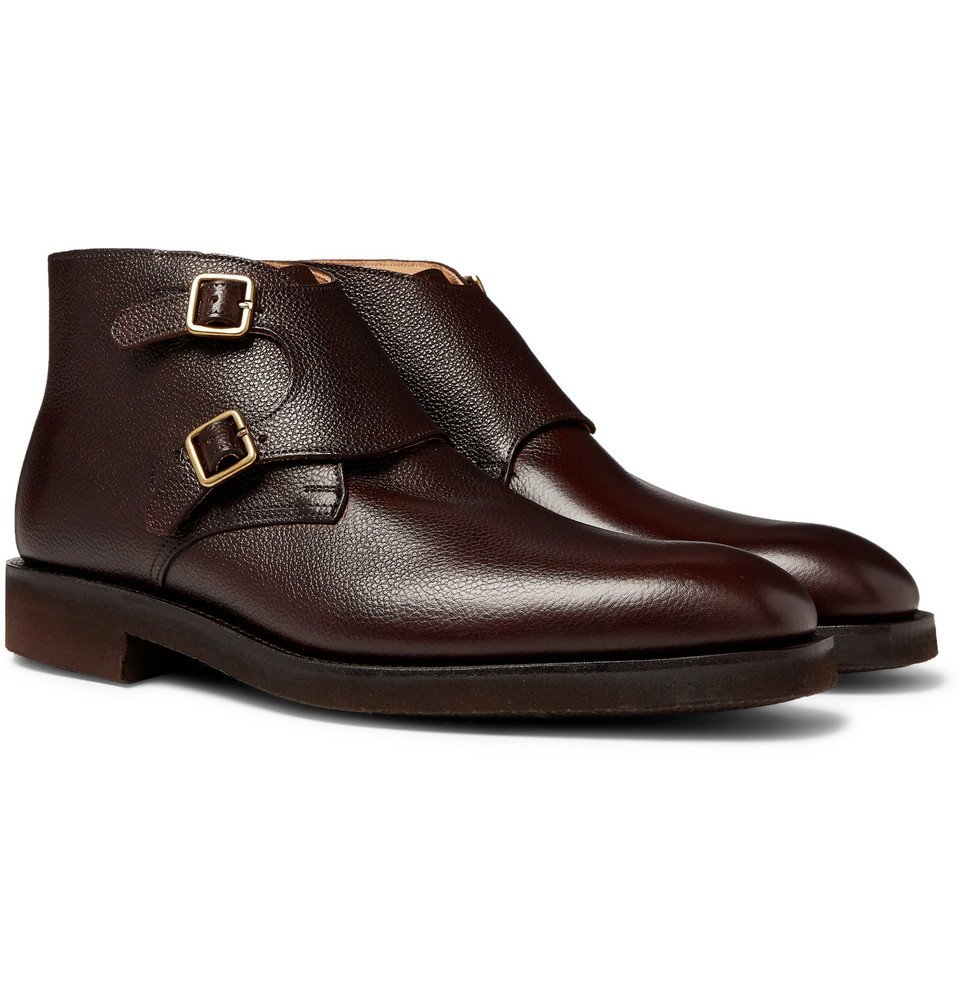 Photo: George Cleverley - Fry Full-Grain Leather Monk-Strap Boots - Brown