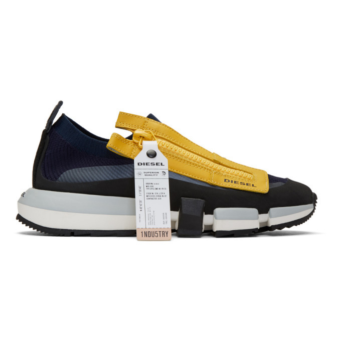 Photo: Diesel Navy and Yellow S-Padola Sneakers