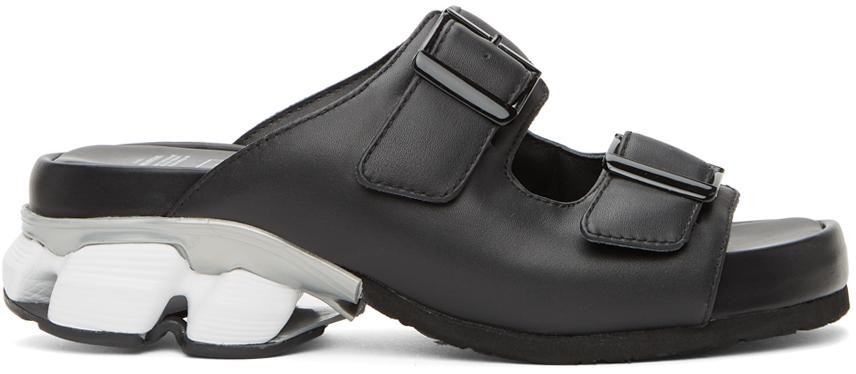 Photo: Miharayasuhiro Black Leather Sneaker Heel Sandals