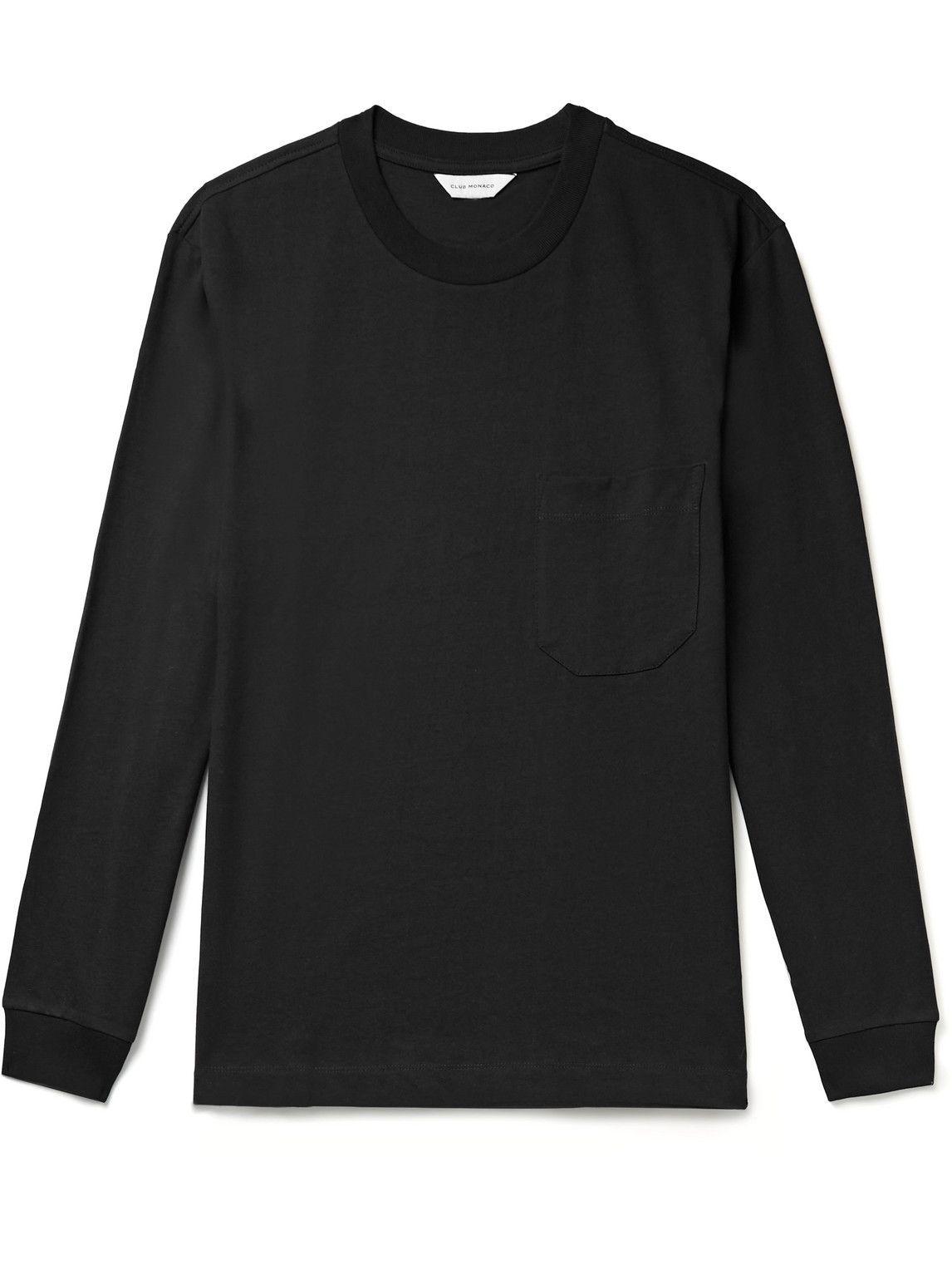 Photo: Club Monaco - Cotton-Jersey T-Shirt - Black