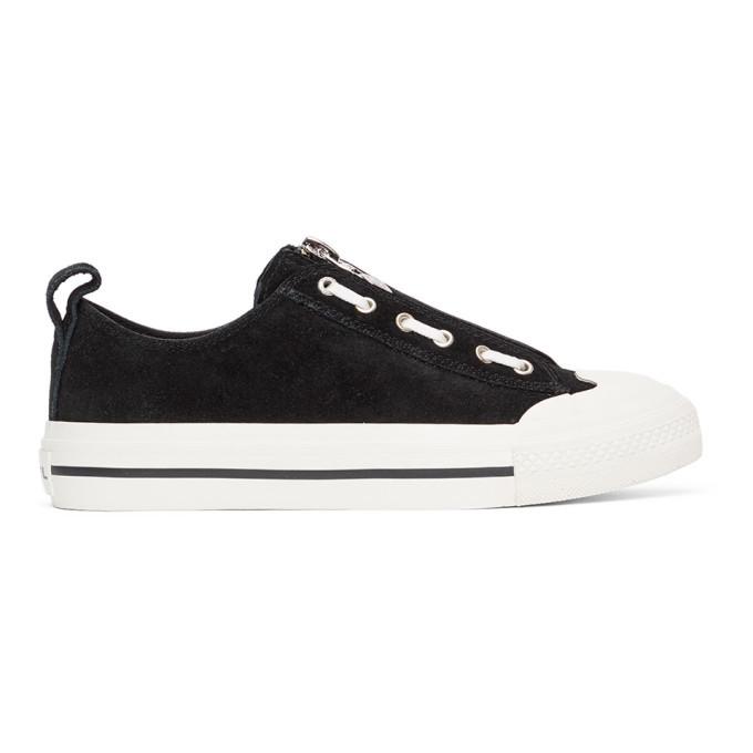 Photo: Diesel Black S-Astico Lzip Sneakers