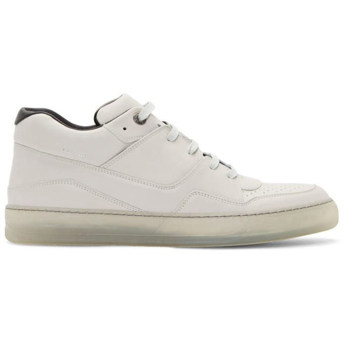 Photo: Lanvin Off-White Leather Sneakers