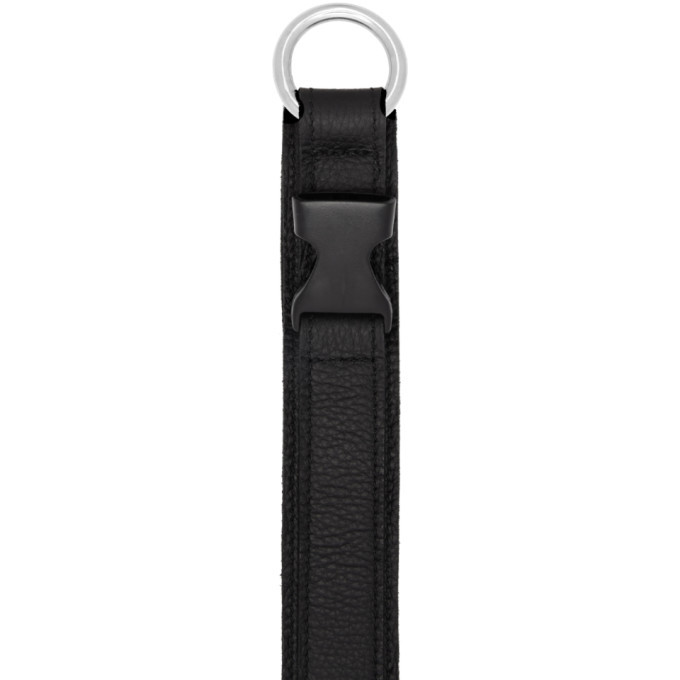 032c Black Leather Collar