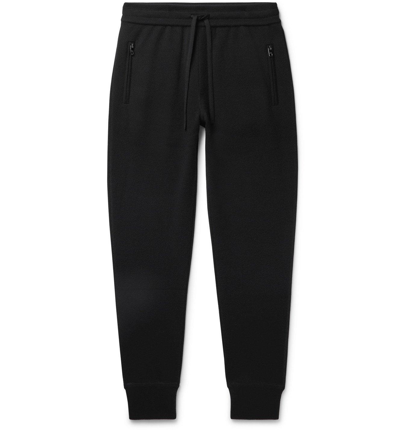 Photo: Dolce & Gabbana - Slim-Fit Cashmere Track Pants - Black
