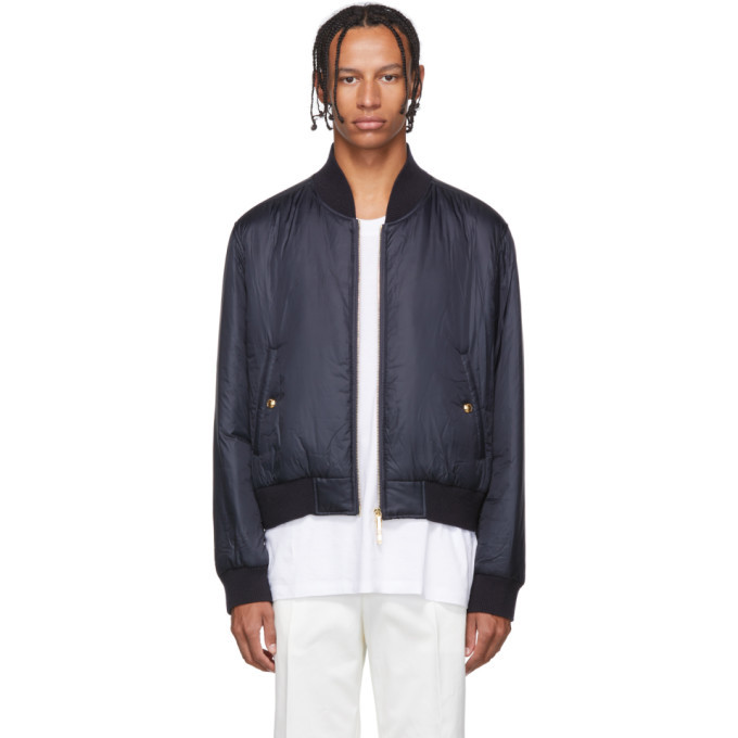 Photo: Thom Browne Navy Down Bomber Jacket