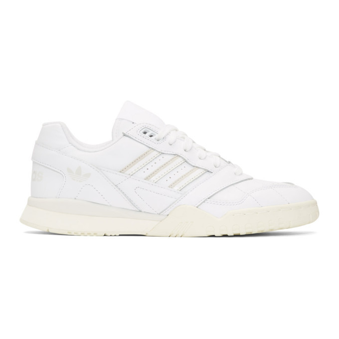 adidas Originals White and Off-White AR Trainer Sneakers