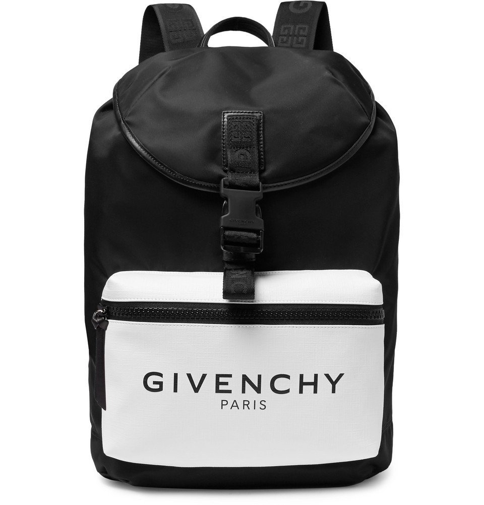 Photo: Givenchy - Glow-in-the-Dark Logo-Print Canvas and Shell Backpack - Black