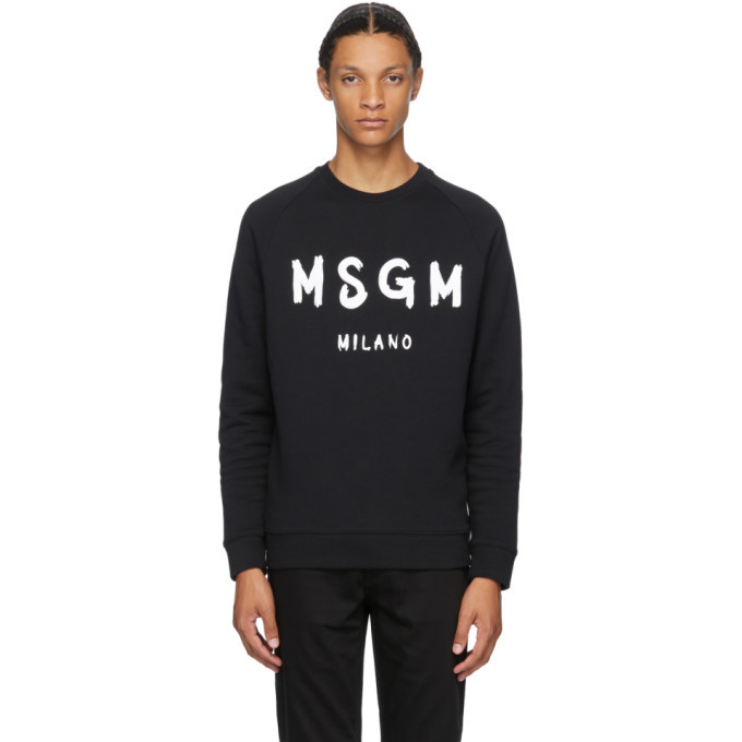 Photo: MSGM Black Artist Logo Sweatshirt