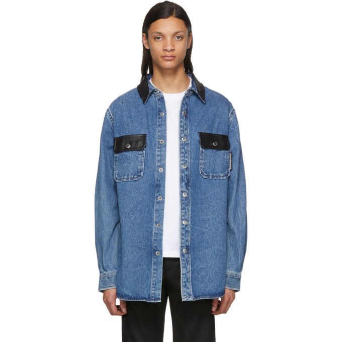 Photo: Alexander Wang Blue Oversized Button Down Shirt