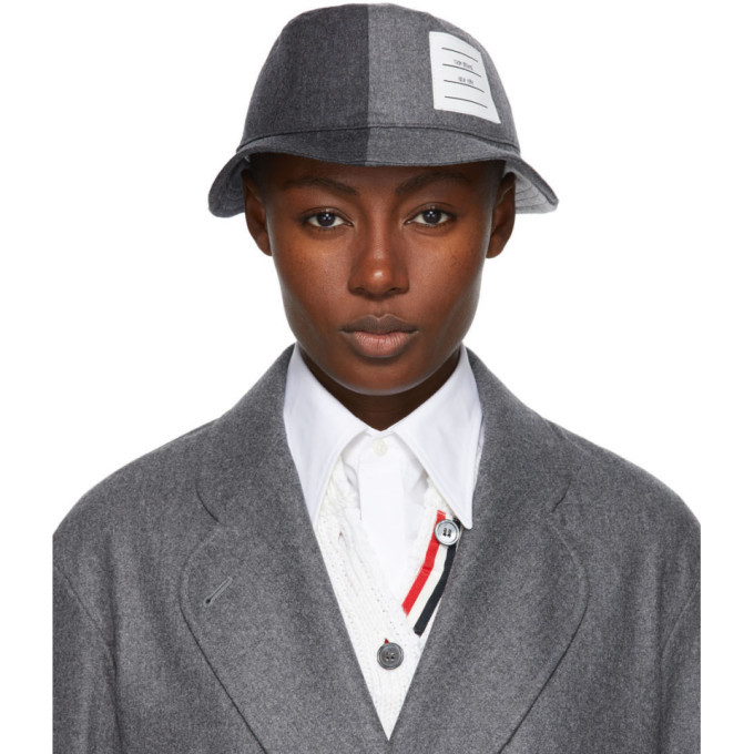 Photo: Thom Browne Grey Super 120s Wool Bucket Hat