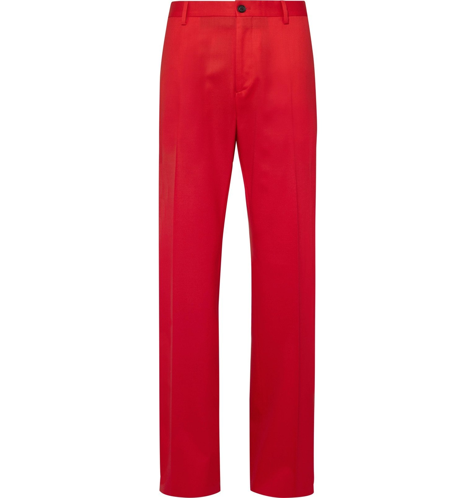 Photo: Versace - Red Stretch-Wool Twill Suit Trousers - Red