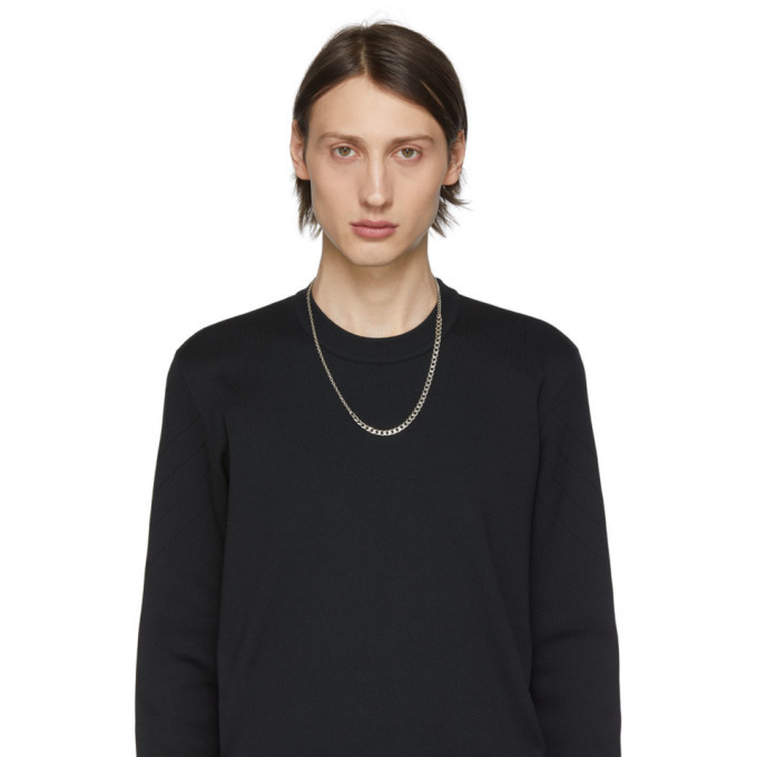 Bottega Veneta Silver Alternate Chain Necklace