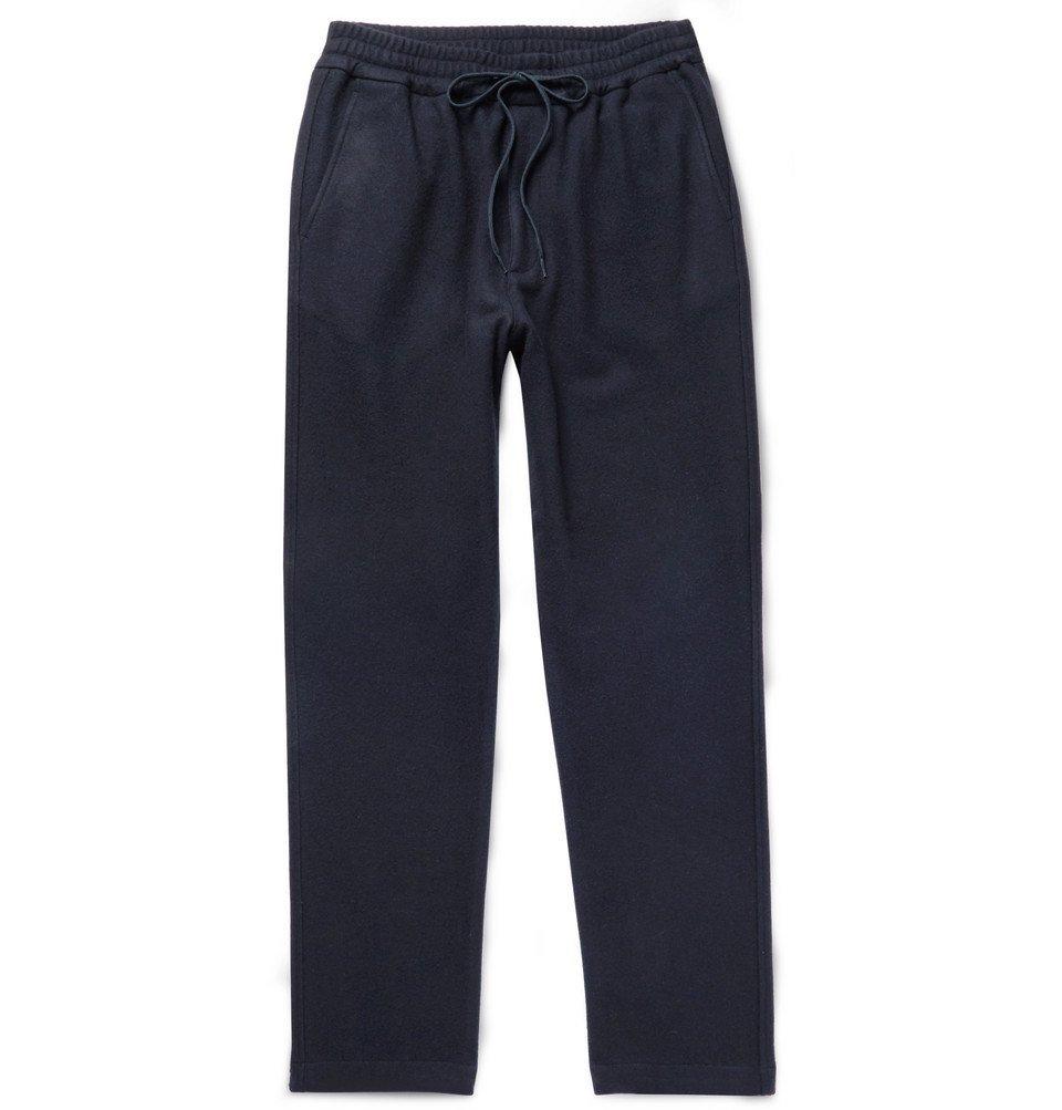 Photo: Barena - Midnight-Blue Brushed Virgin Wool-Blend Drawstring Trousers - Midnight blue