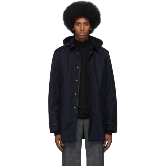 Photo: Herno Navy Laminar City Coat