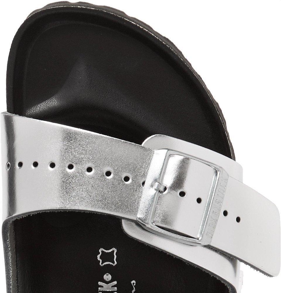 98a1c26925c7 Rick Owens - Birkenstock Arizona Two-Tone Leather Sandals - Silver ...