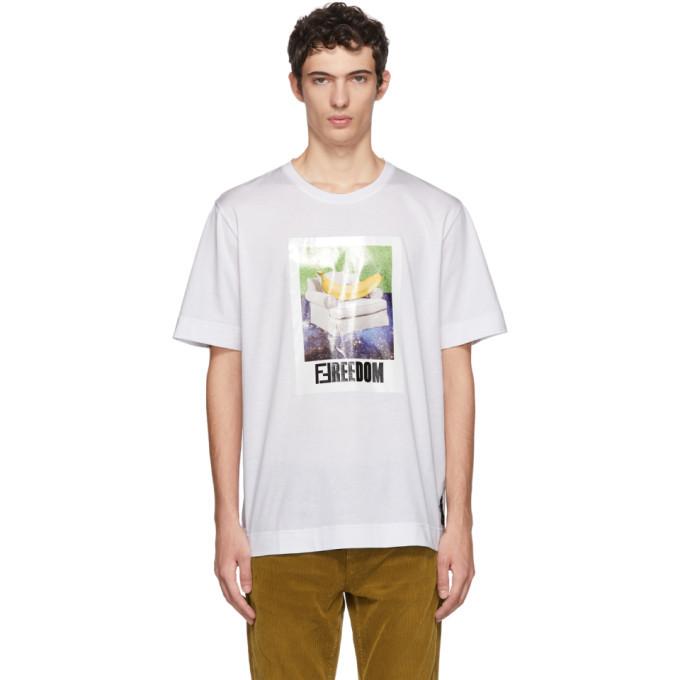Photo: Fendi White Freedom T-Shirt
