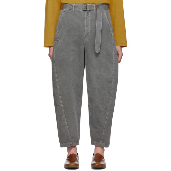 Photo: Lemaire Grey Twisted Chino Trousers