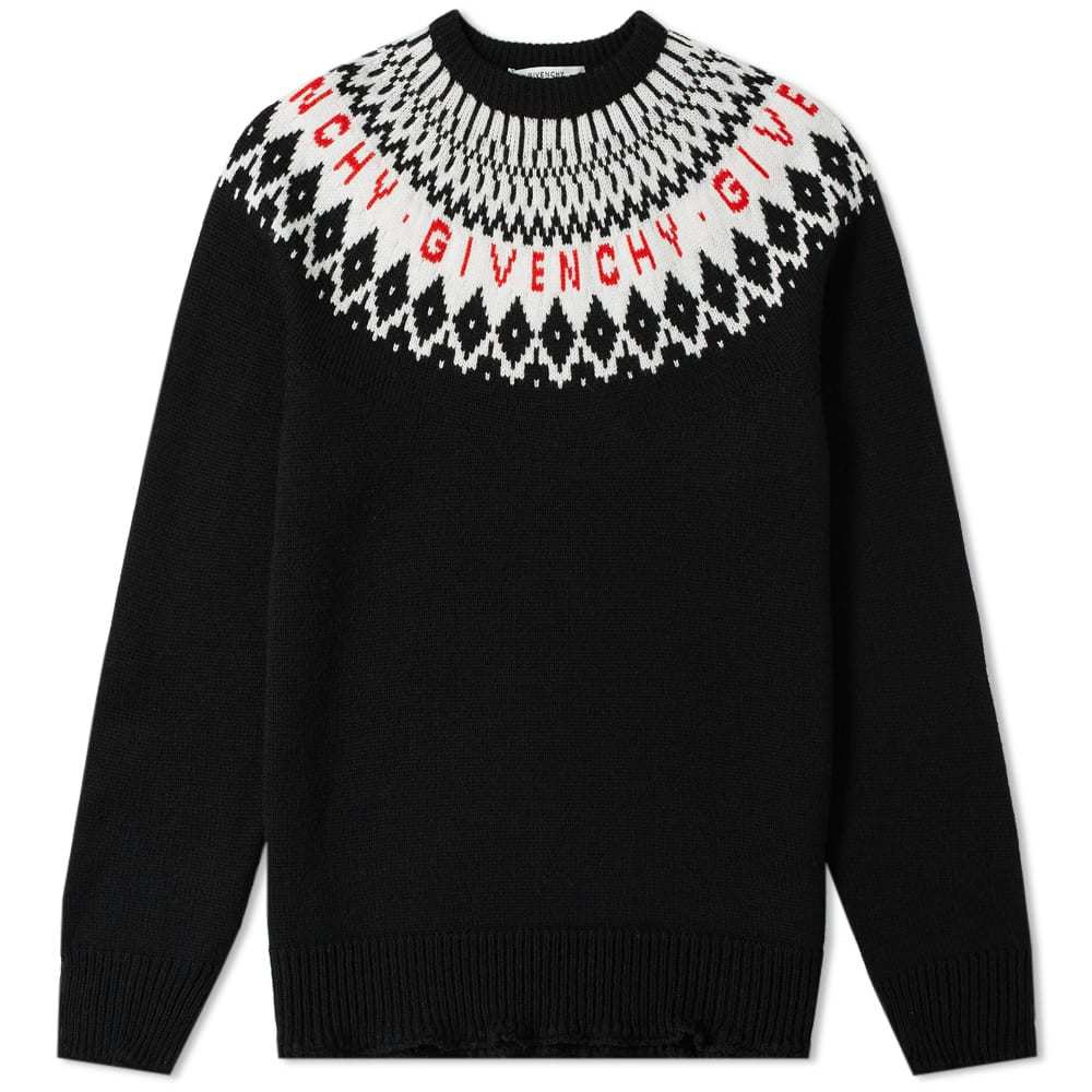 Photo: Givenchy Merino Fair Isle Logo Knit