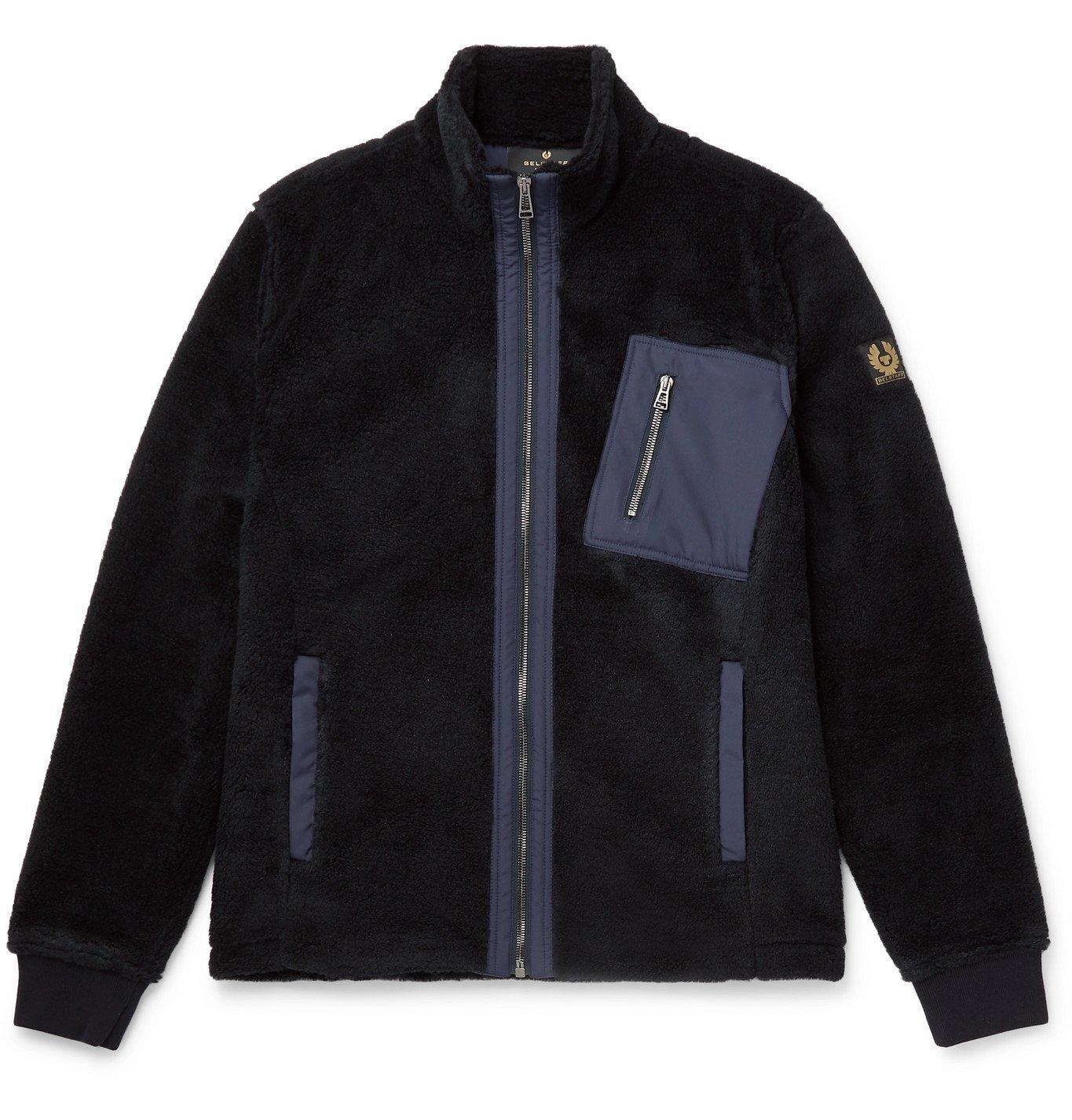 Belstaff - Herne Shell-Trimmed Fleece Jacket - Black