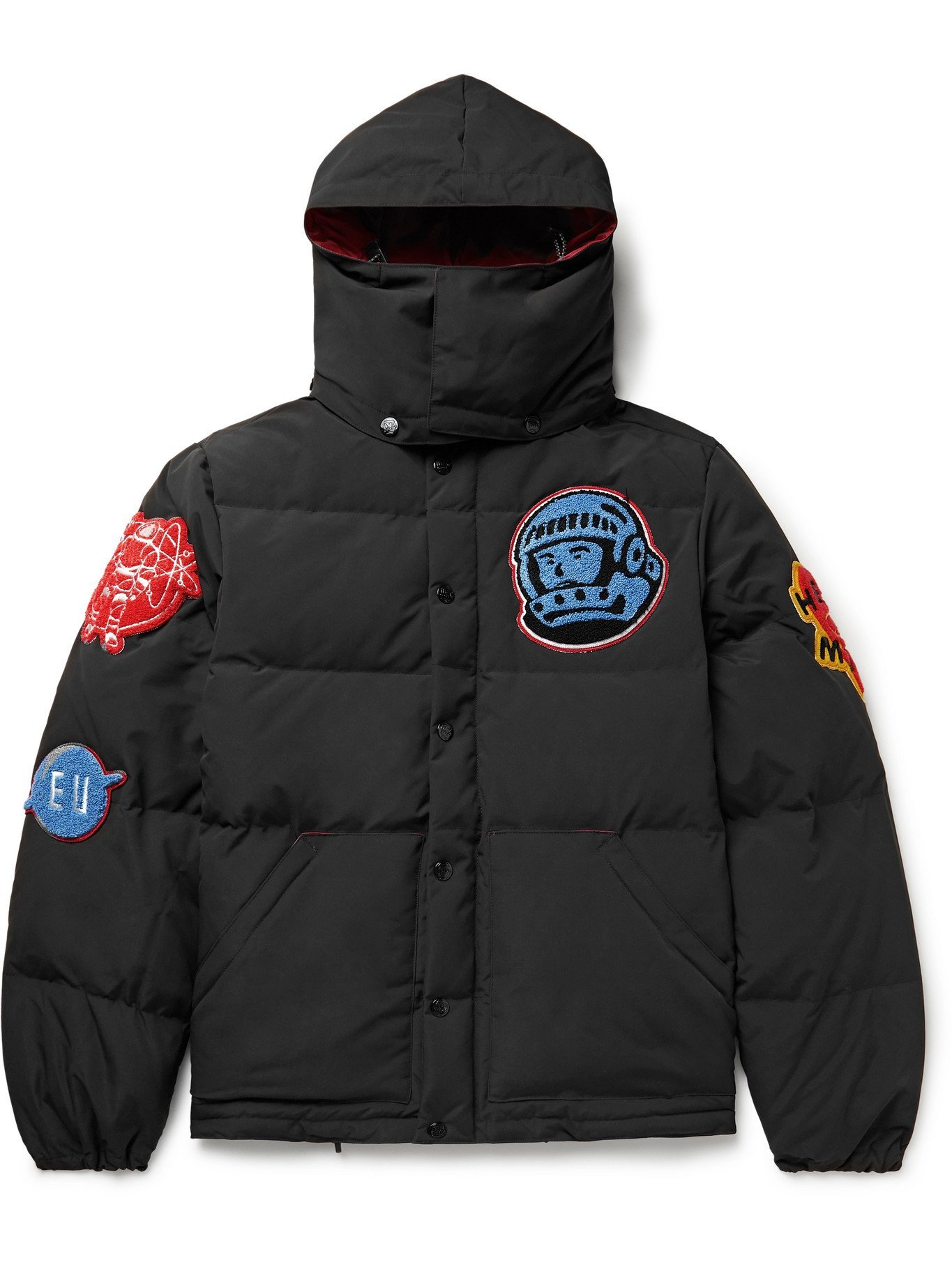 Photo: BILLIONAIRE BOYS CLUB - Appliquéd Quilted Shell Hooded Down Jacket - Black - M