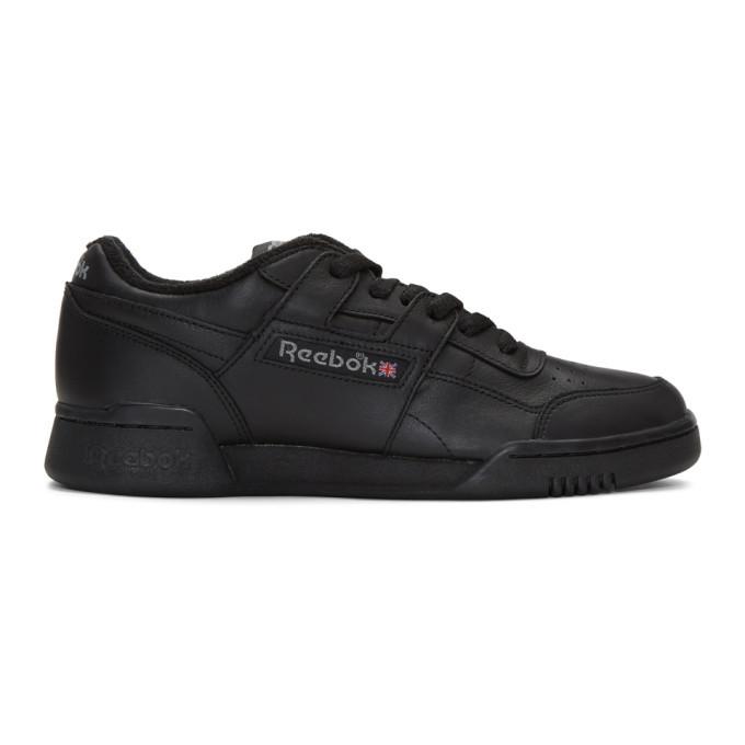 Photo: Reebok Classics Black Vintage Workout Sneakers