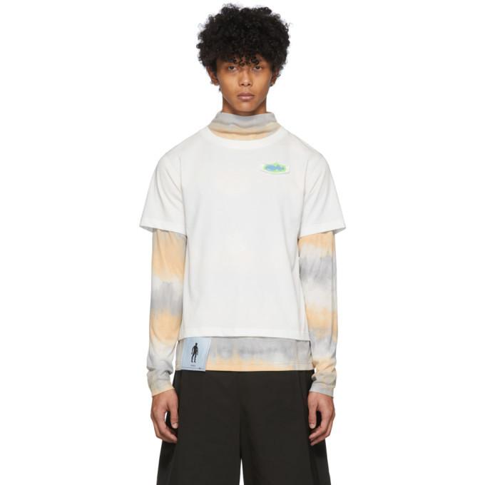Photo: Keenkee White Tie-Dye Layered Long Sleeve T-Shirt