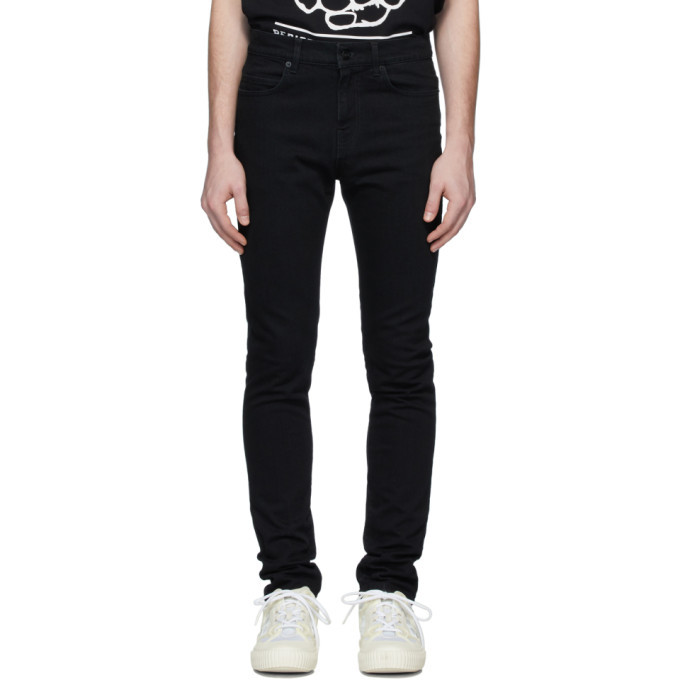Photo: McQ Alexander McQueen Black Mismatched Strummer Jeans