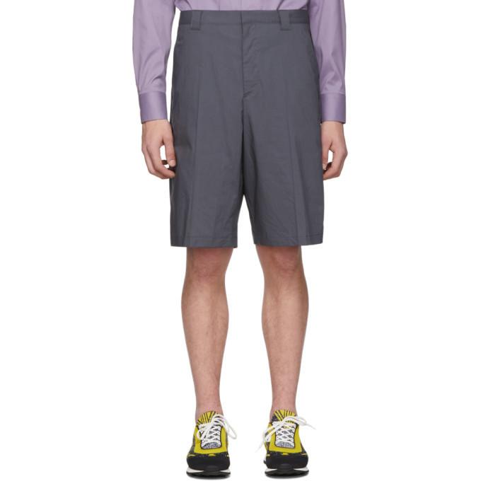 Photo: Prada Grey Poplin Shorts