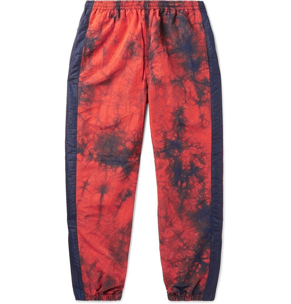 Photo: Blue Blue Japan - Striped Tie-Dyed Nylon Sweatpants - Orange