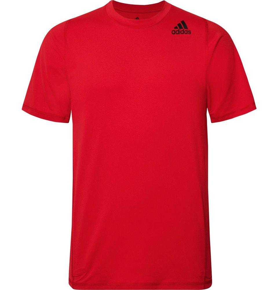 Photo: Adidas Sport - Techfit Climalite T-Shirt - Red