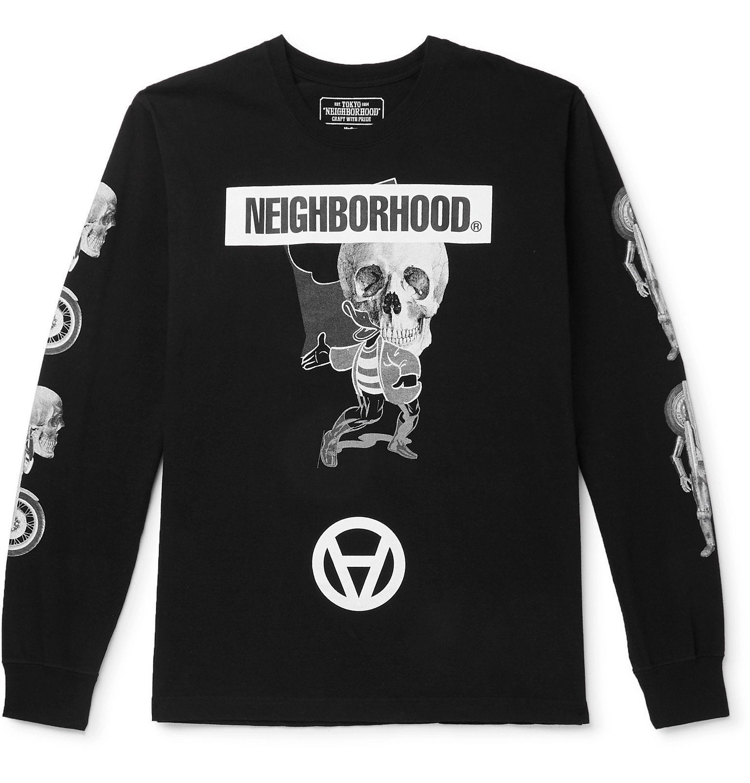 Photo: Neighborhood - Kostas Seremetis Printed Cotton-Jersey T-Shirt - Black