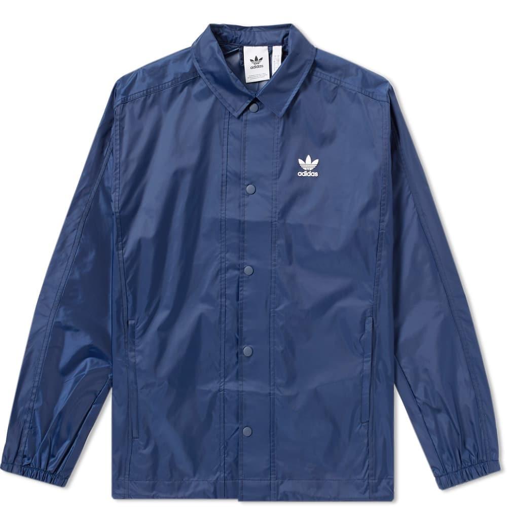Adidas Trefoil Coach Jacket Blue