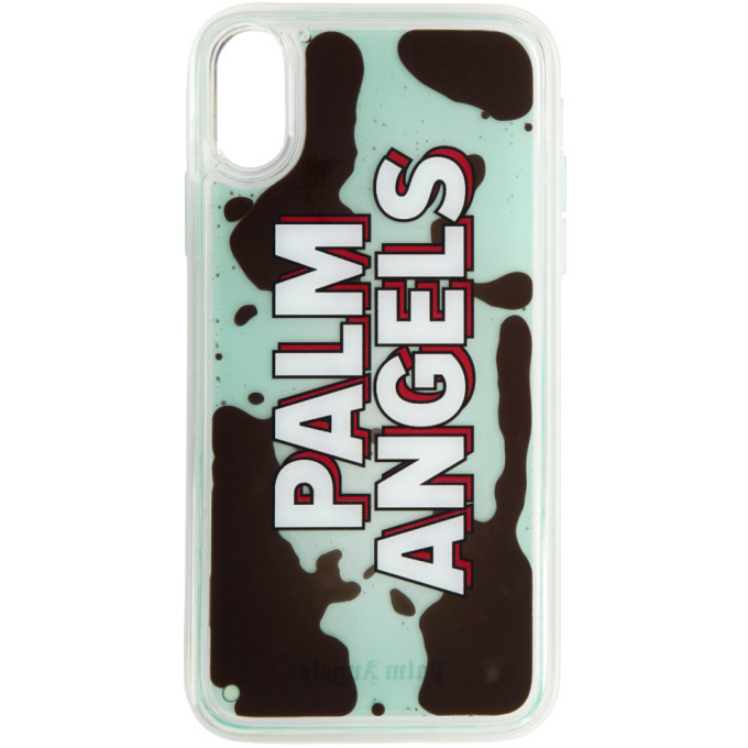 Photo: Palm Angels Blue Liquid Logo iPhone XR Case