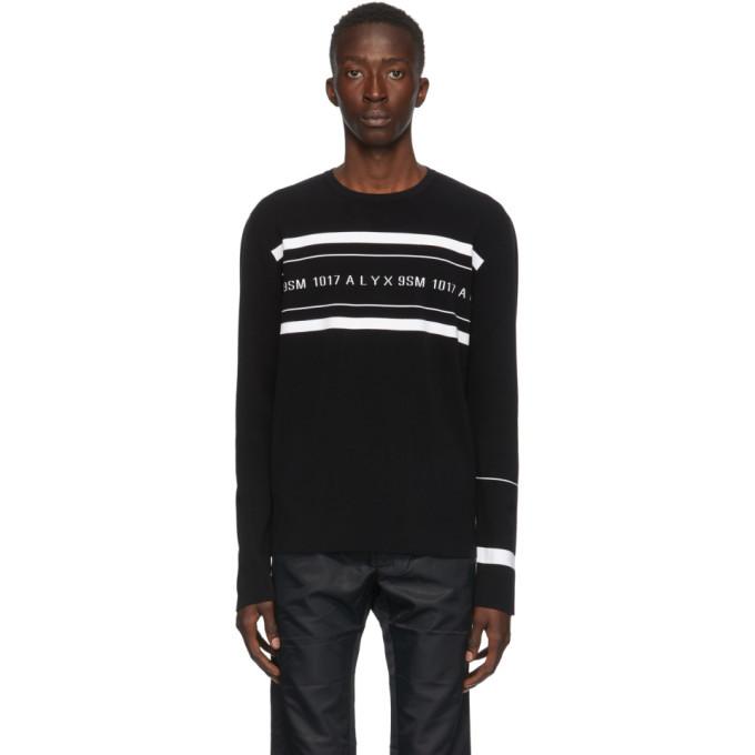 Photo: 1017 ALYX 9SM Black Knit Logo Sweater
