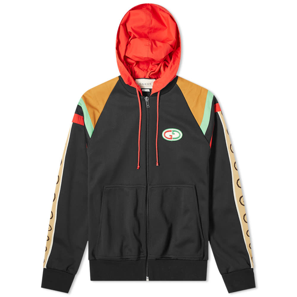 Photo: Gucci Paneled Tech Jersey Zip Hoody