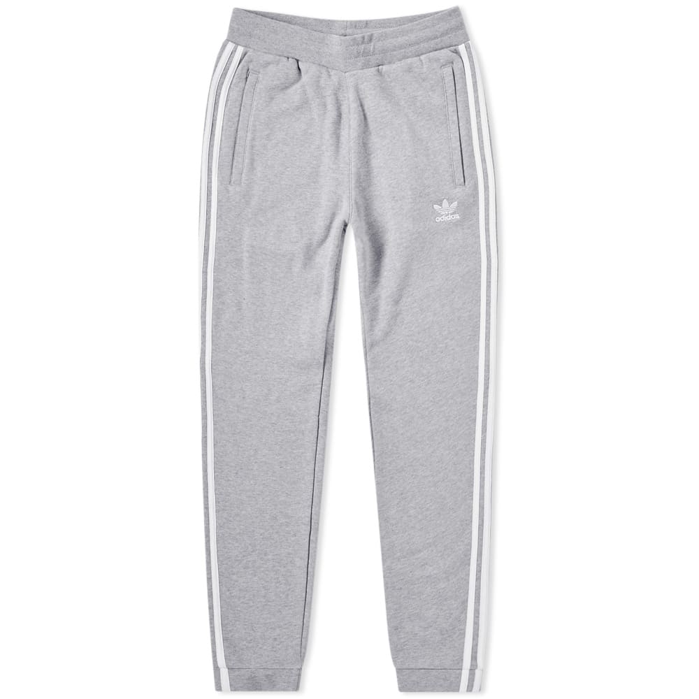Adidas 3 Stripe Sweat Pant Grey