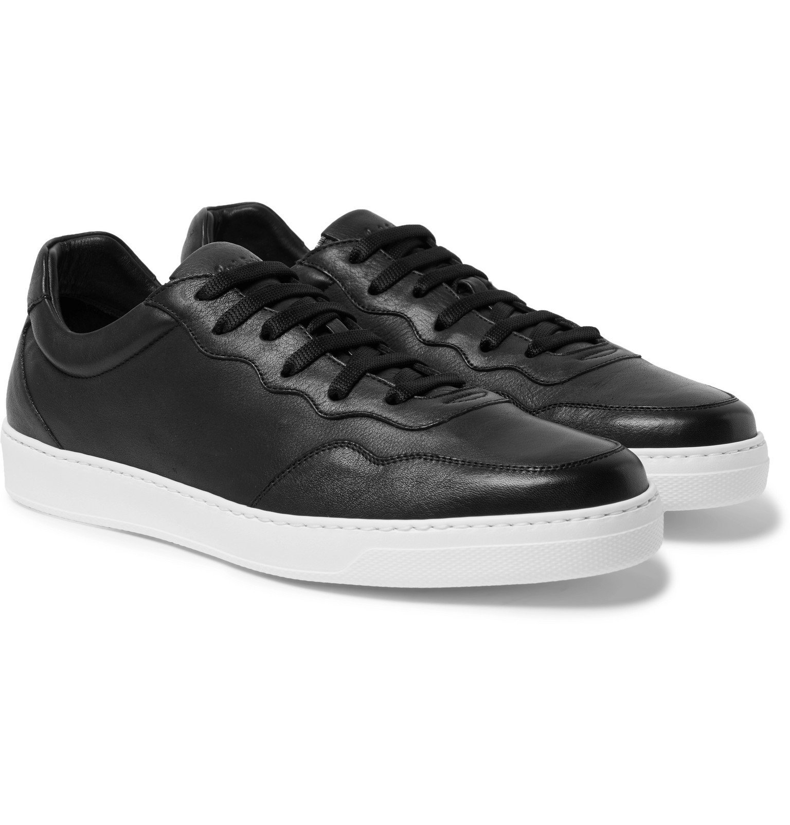 Photo: Paul Smith - Theo Leather Sneakers - Black