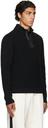 Dunhill Black Engineered Half-Zip Sweater