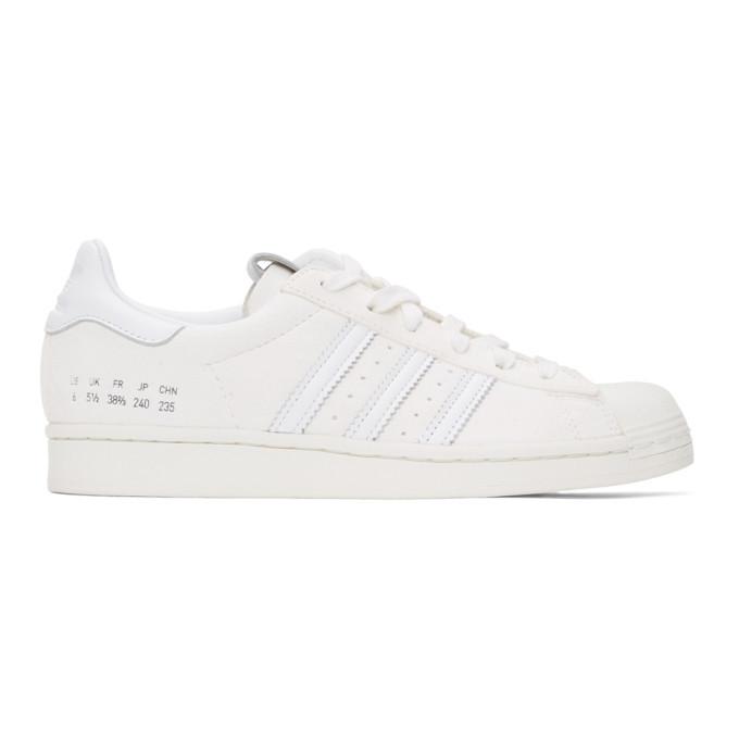Photo: adidas Originals Off-White Suede Superstar Sneakers
