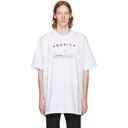 Raf Simons White America Big Fit T-Shirt