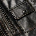 BELSTAFF - Langley Logo-Appliquéd Distressed Leather Jacket - Black
