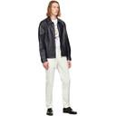 Dunhill Black Leather Work Jacket