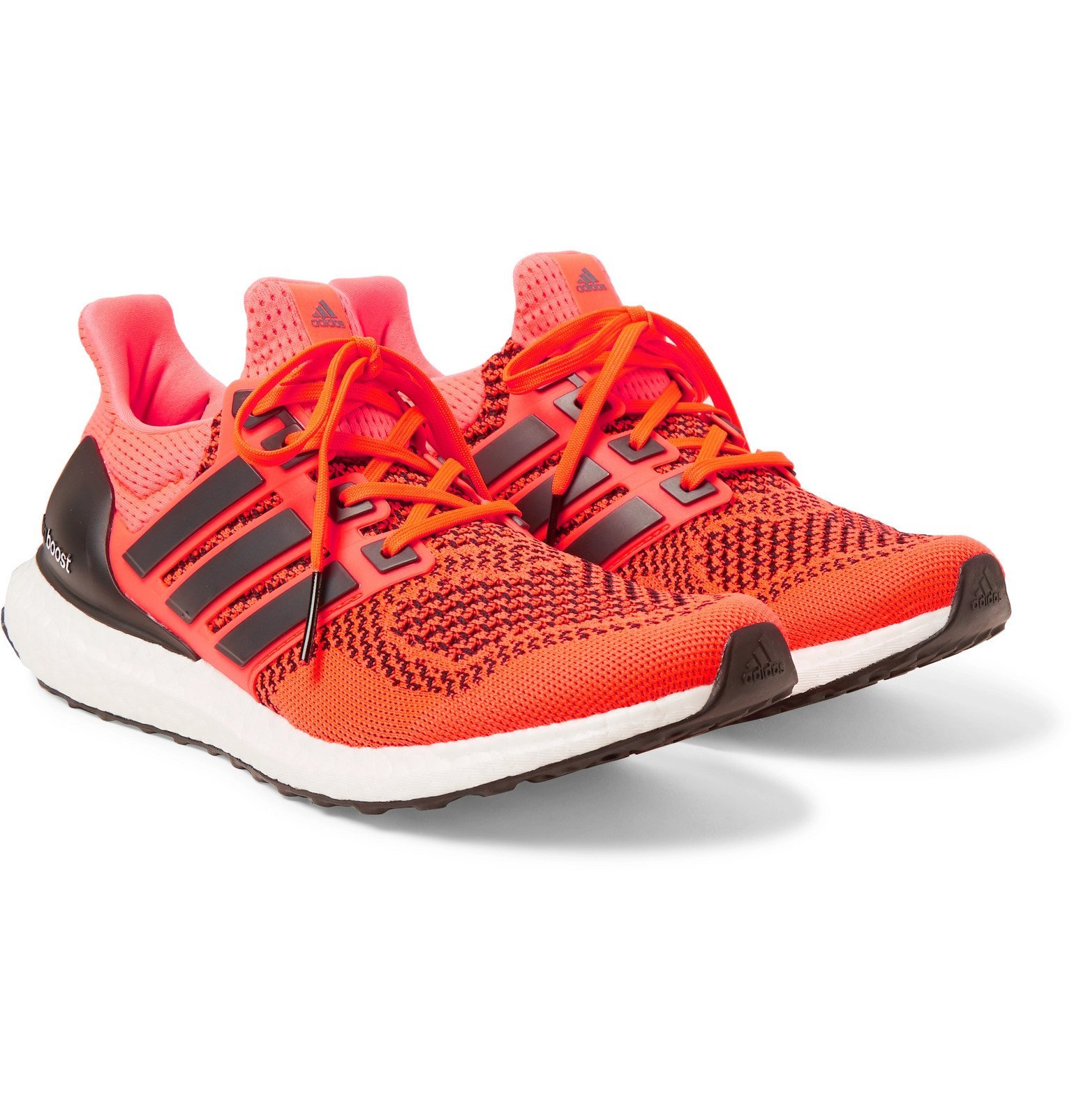Photo: adidas Consortium - UltraBOOST 1.0 Rubber-Trimmed Primeknit Running Sneakers - Orange