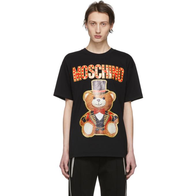 Photo: Moschino Black Ring Leader Bear T-Shirt