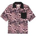 Aries - Gomorra Camp-Collar Printed Voile Shirt - Pink